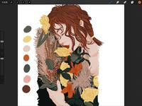 woman&flower