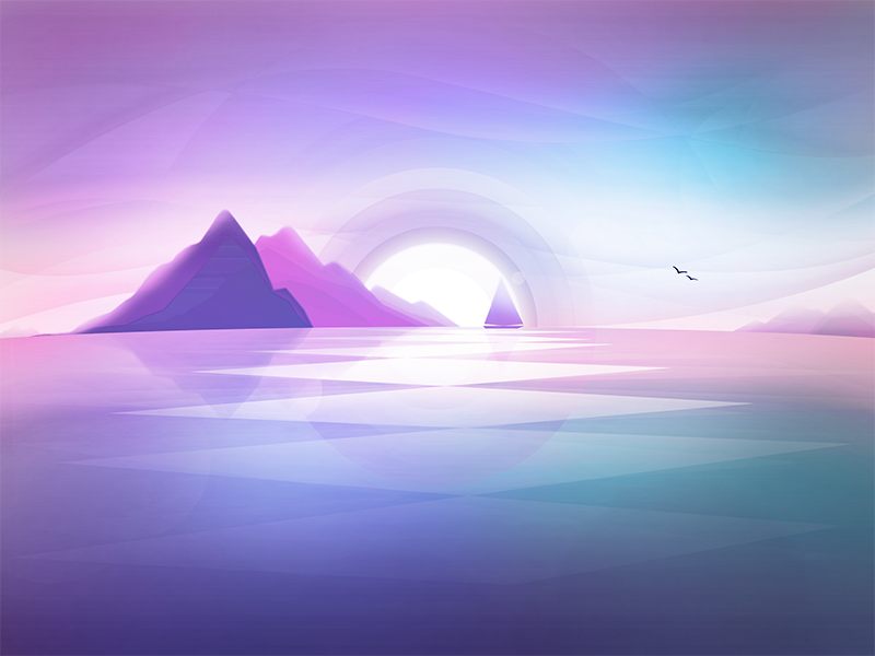 sunset soft colors by illustrate x dribbble