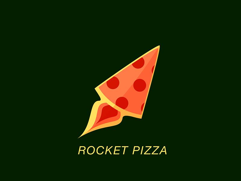Rocket Pizza © thenewvision vector logo text mark pizza