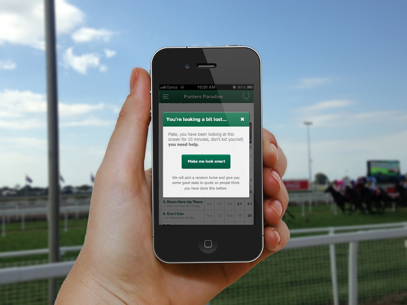 I could have used this feature at the races punters paradise ios app races iphone