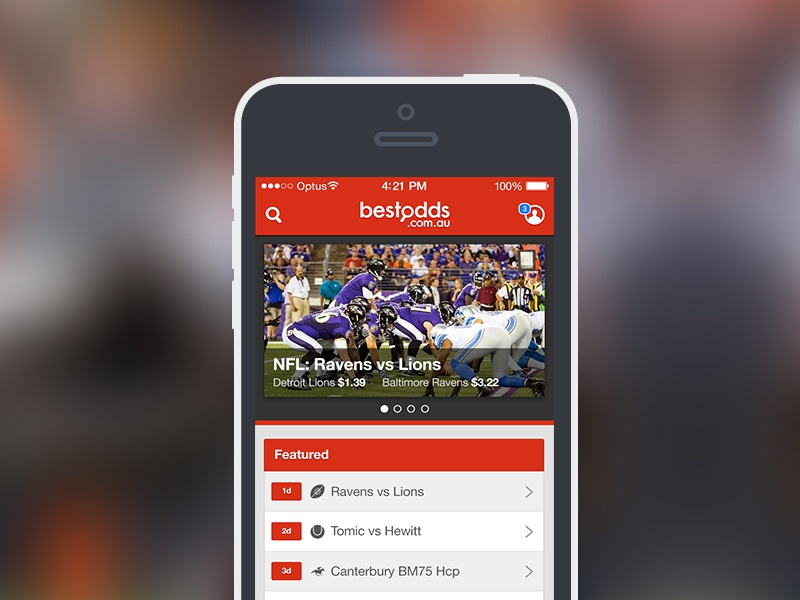 Best Odds iOS app ios app iphone mobile ui