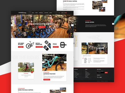 eCommerce Design for a Mountain Bike retailer ecommerce