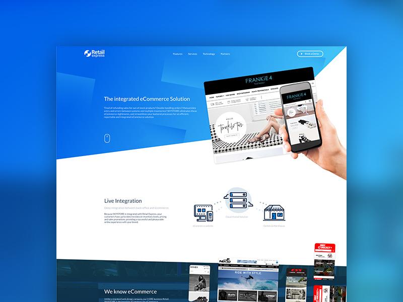 Retail Express 17 Website gradient