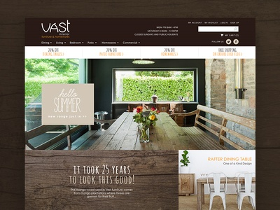 Vast Interiors ecommerce