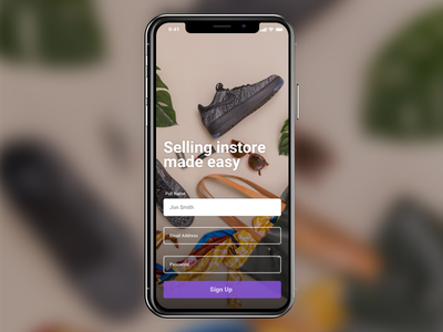 Sign Up Modal - Daily UI 001 ui mobile iphone app