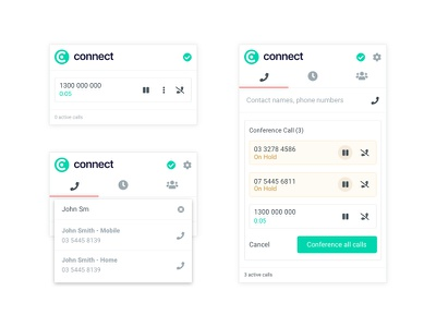 ER Connect - Phone Extension user experience design browser extension user experience ui