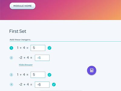 Input toolbar for math symbols interactions prototyping protopie figma activity desktop ui education