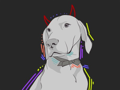 portrait of the office dog pet popart dog portrait procreate illustration digital illustration digitalart