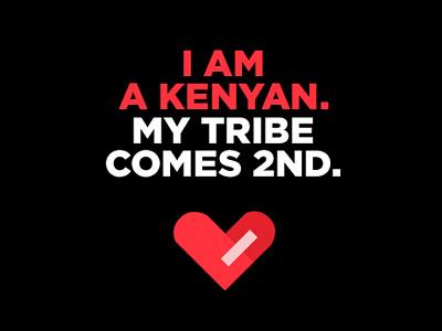 I Am A Kenyan // Graphic Design graphic design elections love africa tribe nairobi politics peace kenya