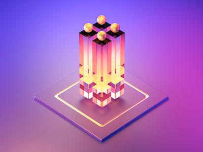 Crystals sphere figures light blender3d abstract crystal 3d