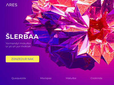 Shlerbaa shlerbaa colorful web landing page header hero image illustration ares ui abstract 3d web design