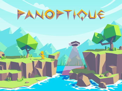 Panoptique Game Concept polygonal adventure sci-fi character 3d game panoptique