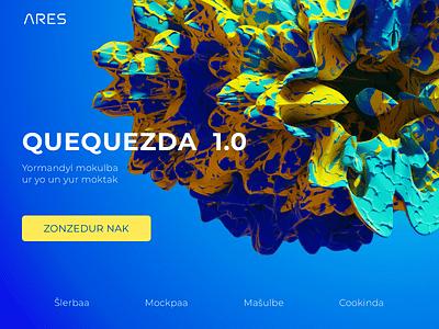 Quequezda shlerba ares header illustration ui web abstract 3d