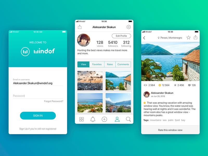 Windof app UI
