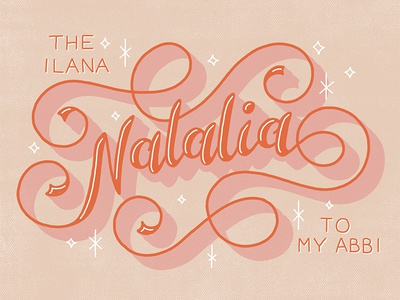 Natalia name sparkle ligatures lettering pencil flourishes handlettering script swashes sketch swirl calligraphy