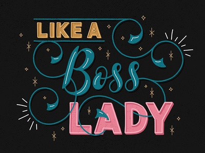 Like A Boss Lady professionalaf boss ligatures lettering email flourishes handlettering script swashes sketch swirl calligraphy