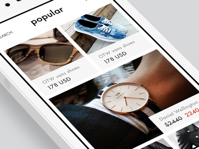 E-commerce mobile - products rgrundig e-commerce clean mobile ios images popular price minimalism product