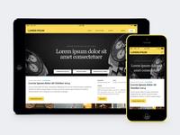 Concept iPad and iPhone App Studies ipad iphone yellow black elegant flat