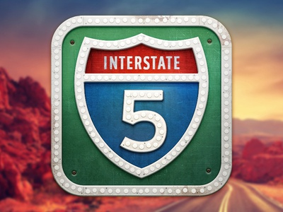 iOS Road Trip Planner icon @2x rgrundig icon ios road sign trip rust texture street
