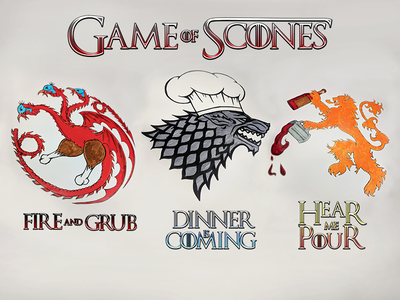Game of Scones lannister stark targaryen thanksgiving game of thrones