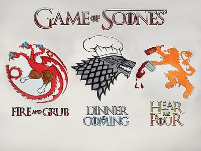 Game of Scones lannister stark targaryen thanksgiving game of thrones