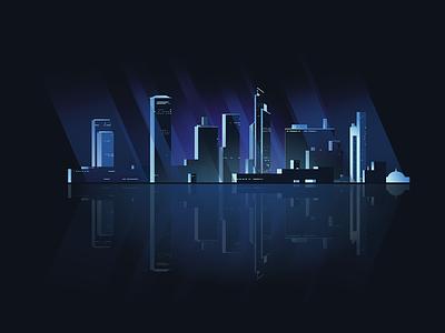 Cityscape Illustration night illustration city illustrator