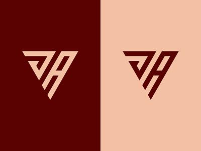 JA Logo simple modern minimal ja monogram ja logo ja triangle logo monogram logo typography monogram graphic design illustration design logotype icon logo designer logo design identity logo branding