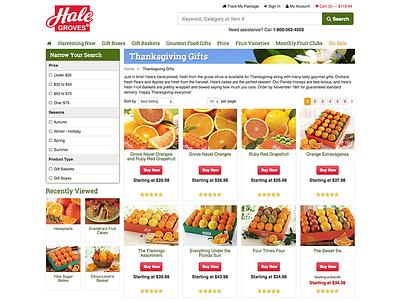 HaleGroves.com Category Page e-commerce