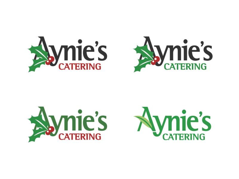 Aynie's Christmas Themed Logo holidays christmas logo