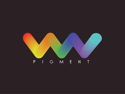 Pigment illustration logo flat minimal design