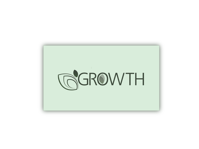 GROWTH businesscard illustrator icon art branding vector logo flat minimal design illustration
