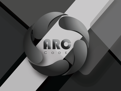ARC CODE businesscard minimal illustration vector graphic design design logo
