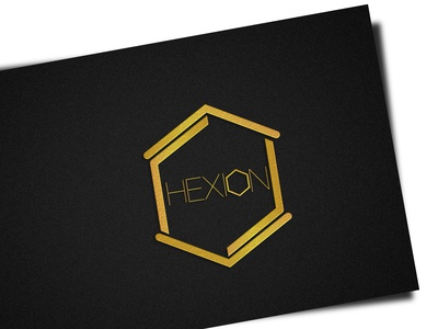 Hexion minimal mockup flat branding design design illustrator graphic design photoshop branding logo