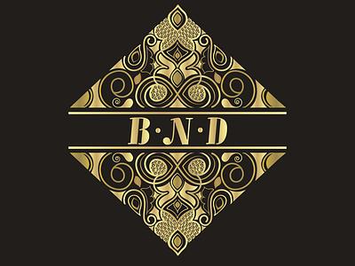 B.N.D complex logo graphic design branding illustration design