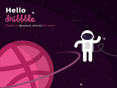 Dribbble 1st Shot 1st shot shot invitation invite hello first