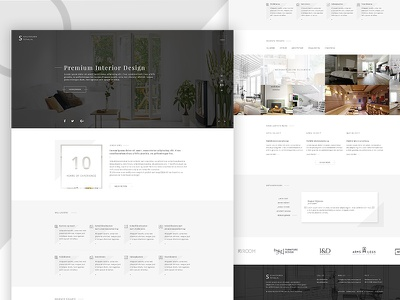 Interior Design Company Website Redesign flat corporate minimal ui website interior redesign