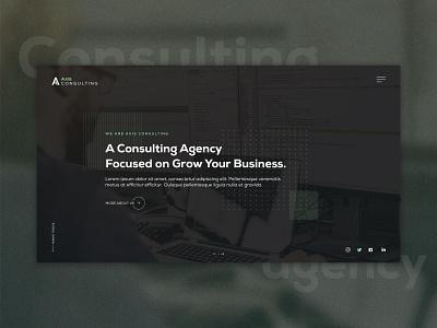 Consulting Agency Website Design header slider minimal corporate company design consultant consultancy consulting agency website ui