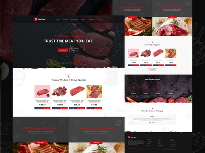 Online meat selling website design