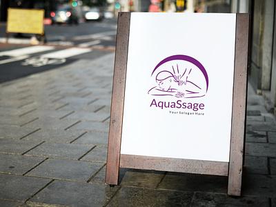 AquaSsage Logo Design unique logo design creative logo design creative design design logo creative and unique log design graphicdesign