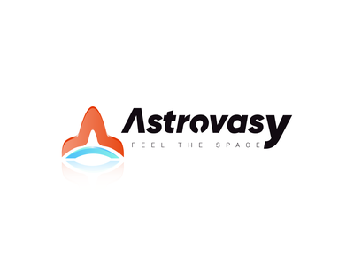 Astrovasy | Logo Design Concept magazine logo space astronomy flat typography minimal graphic design illustration vector logo design branding