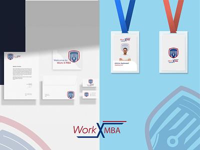 Work X MBA | Logo and Branding education logo university logo logoideas mockup design id card design stationary mockup typography vector type minimal illustration graphic design design branding