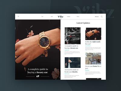 Blog Website - Vibz - UI Design uiinspirations uidesign branding website animation web icon app typography ux ui