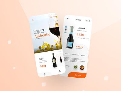 Winery UI Design ux dailyui design inspiration uitrends productdesign web design ux designer ui kit winery ui interface app design ui inspiration appdesigner