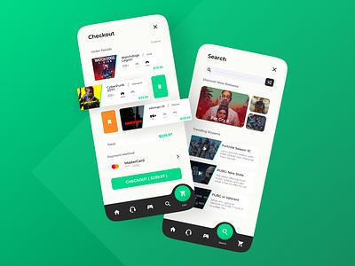 Game Management App Conept Design designer deisgn minimal trends 2021 ui design uitrends gaming website community green clean ui ux inspiration uiinspirations uiinspiration uiux gaming app