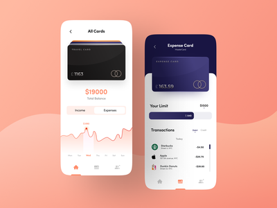 Fintech Management UI uiux minimal graphic design ui screen ui kit expense tracker credit card app design ui ux management app finance fintech app cards cards ui