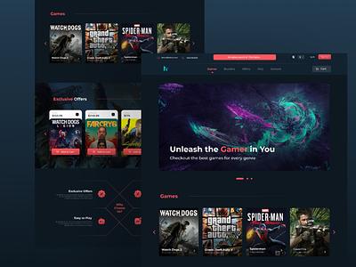 Game Website UI web design user experience user interface dailyui web website development ux uiux design graphic design website design