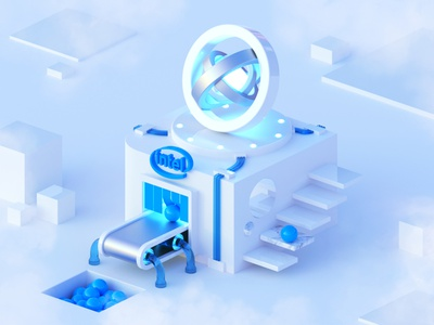 3D Intel Factory 3d modeling abstract art design 3d intel factory 3d render 3d artist blender 3d blender 3d art