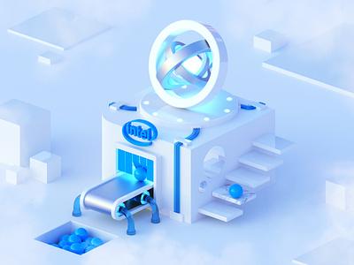 3D Intel Factory 3d modeling abstract art design 3d intel factory 3d render 3d artist blender 3d blender 3d art