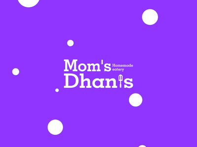 Moms Dhanis logo design + fryer spoon icon illustrator symbol monogram minimal icon mark identity logotype branding logo design logodesign modern logo illustration design brand design