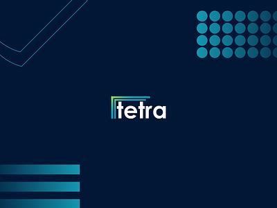 tetra logo logotype illustrator identity icon logo modern illustration design branding brand design